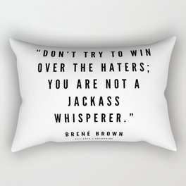 6    | Brené  Brown Quotes | 190524 | White Design Rectangular Pillow