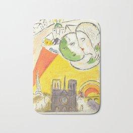 Le Dimanche (On Sundays) from Marc Chagall, 1954 Artwork Derrière le Miroir Magazine, tshirt, tee, j Bath Mat