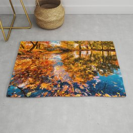 Boston Fall Foliage Reflection Rug