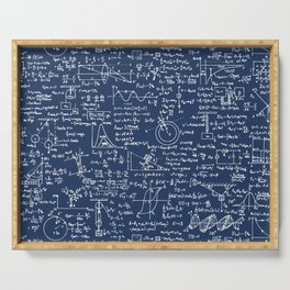 Physics Equations // Navy Serving Tray