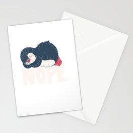 nope sleep no penguin cute children child sleep Stationery Cards
