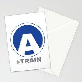 NY MTA Subway A Train Line Stationery Cards