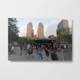 Union Square Action Metal Print