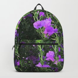 Field of Pink-Lilac Happy Flowers Backpack