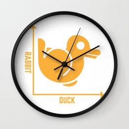 Rabbit Duck Graph Math Pun Student Teacher Easter Gift design Wall Clock