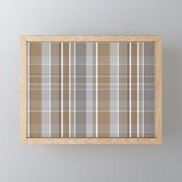 Winter, Plaid, Brown and Grey Framed Mini Art Print