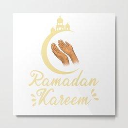 Ramadan Kareem Moon Mubarak Muslim Islamic Fasting Metal Print