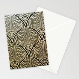 Golden Art Deco pattern Stationery Cards