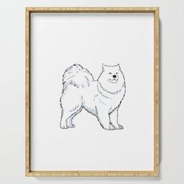 Samoyed Dog Owner Gift Idea Serving Tray