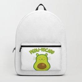 Avocado Keto Ketogen Cat Kitten No Carb Diet Gift Backpack