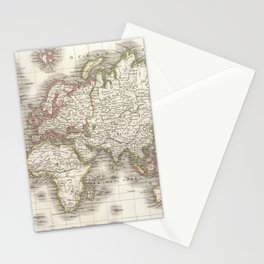 Vintage Map of The World (1832) Stationery Cards