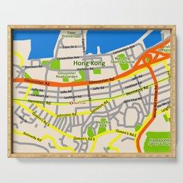 Hong Kong Map design Serving Tray