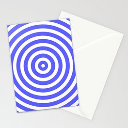 Circles (Azure & White Pattern) Stationery Cards