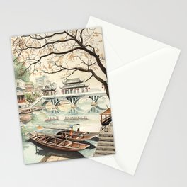 Fishing Town Stationery Cards