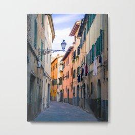 streets of Tuscany Metal Print
