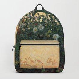 Flowered Riverbank, Argenteuil, Claude Monet Backpack