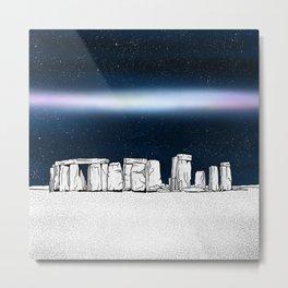 Stonehenge at night Metal Print