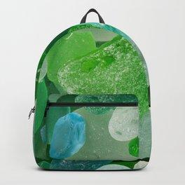 Ocean Photography Beach Sea Glass Backpack