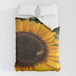 Sunflower and Honeybee Duvet Cover