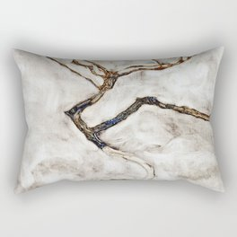 Egon Schiele - Small Tree In Late Autumn Rectangular Pillow