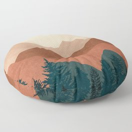 Sunset Mountain Peaks 1 Floor Pillow
