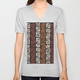 African Kuba Cloth Unisex V-Neck