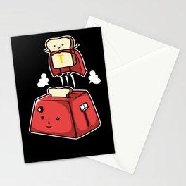 Toast bread toast superhero super power Stationery Cards