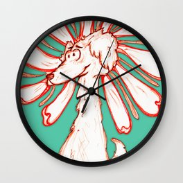 """""""Because You're You!!"""" Flowerkid Wall Clock"""