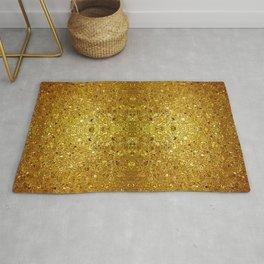 Deep gold glass mosaic Rug