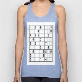 Sudoku Series: Hard Level - Mono Unisex Tank Top