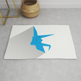 Paper crane Rug