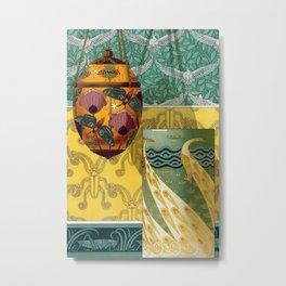 Maurice Pillard Verneuil - Papillons et pavots Metal Print