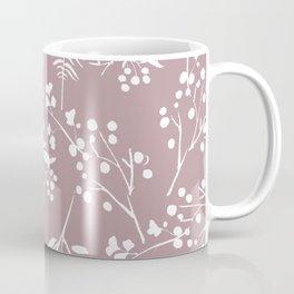 Modern mauve pink white hand painted floral Coffee Mug