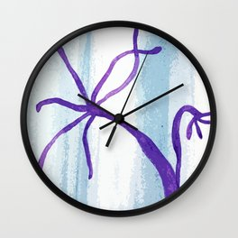 Hydra inspired illustration Wall Clock
