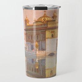 Golden Temple of Amritsar by Yoshida Hiroshi - Japanese Vintage Ukiyo-e Woodblock Painting Travel Mug