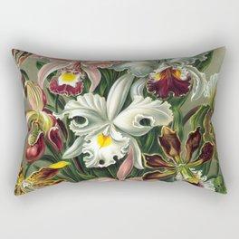 Vintage Orchid Floral Rectangular Pillow