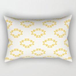Southwest Azteca Pattern - Minimalist Geometric Pattern in Mustard Cream Rectangular Pillow