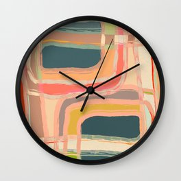 Abstract Windows Wall Clock