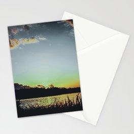 Sundown At Lake Heve 4 dark Stationery Cards