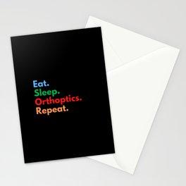 Eat. Sleep. Orthoptics. Repeat. Stationery Cards