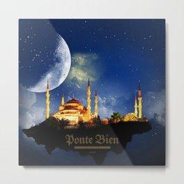 Islam اَلْإِسْلَامُ - Muhammad - Muslims - Quran - Five Pillars of Islam - Oneness of God NE Metal Print