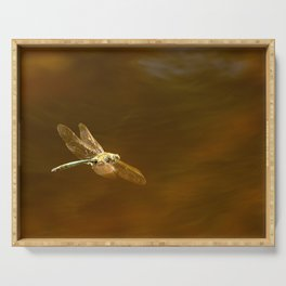 Dragonfly In Flight #decor #society6 #buyart Serving Tray