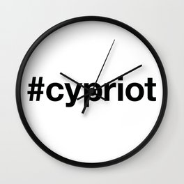 CYPRIOT Hashtag Wall Clock