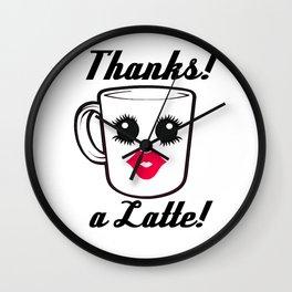 Thanks a latte Wall Clock