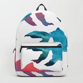 Pattern Oil Painting Abstract Tropical Fish Backpack