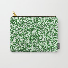Tiny Spots - White and Dark Green Carry-All Pouch