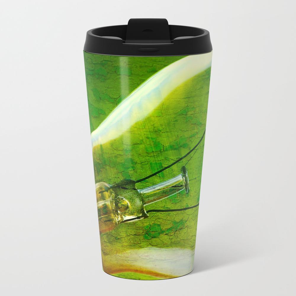 Light Bulb - Think Green Metal Travel Mug by Ingz MTM754795
