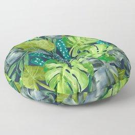 Botanical Leaves Floor Pillow