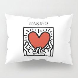 Haring - Heart Pillow Sham