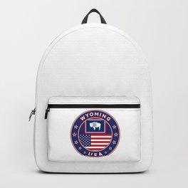 Wyoming, USA States, Wyoming t-shirt, Wyoming sticker, circle Backpack